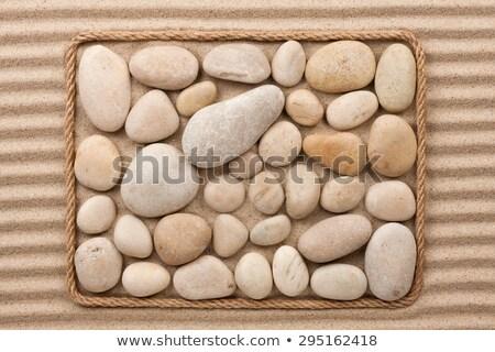 Quadro corda areia branca lugar praia projeto Foto stock © alekleks