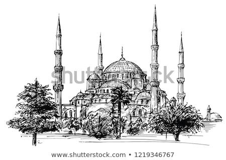 hagia sophia in istanbul turkey vintage engraving stock photo © morphart