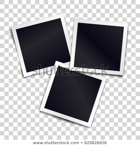 Stock photo: Three photo frames