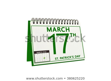 17 · dia · verde · calendário · cartão · férias - foto stock © orensila