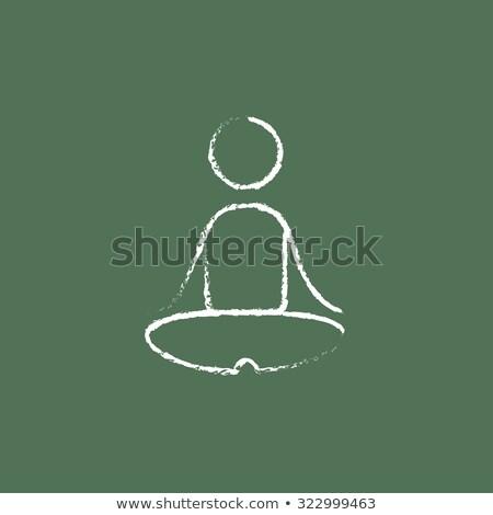 vert · tableau · dessinés · à · la · main · flexibilité · doodle · icônes - photo stock © tashatuvango