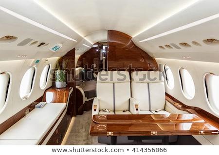 Belső magángép légi közlekedés üzlet ablak notebook Stock fotó © tracer