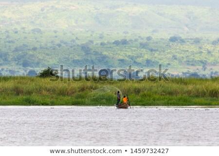 住宅 · 村 · 湖 · ミャンマー · ビルマ · 空 - ストックフォト © romitasromala