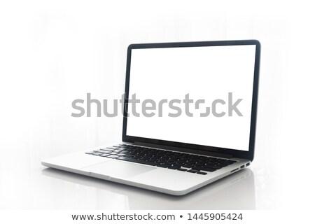Fekete pc monitor vázlat tükör személyi számítógép Stock fotó © limbi007
