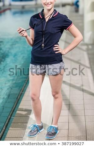 Feliz mulher assobiar festa seis Foto stock © deandrobot