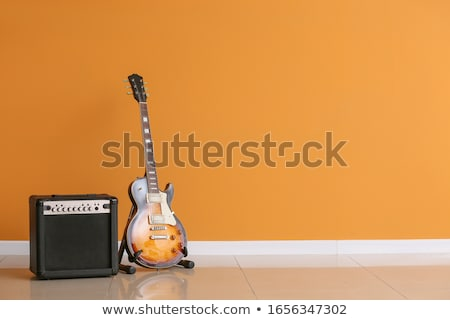 Electric Guitar with Amplifier stock photo © iconify
