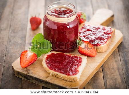strawberry jam stock photo © racoolstudio