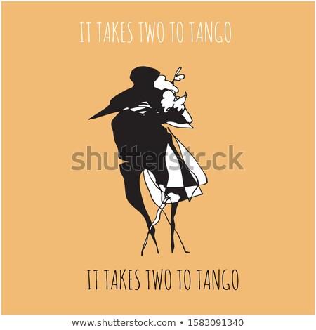 два танго любви пару фон мальчика Сток-фото © bluering