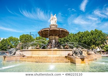 fő- · tér · Franciaország · szökőkút · szobor · pápa - stock fotó © meinzahn