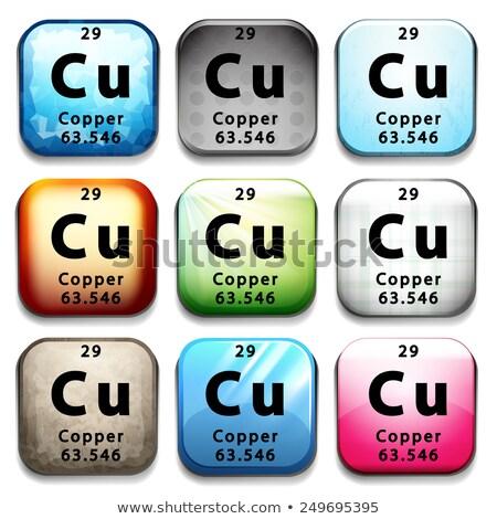 químico · elemento · cobre · símbolo · elementos - foto stock © bluering