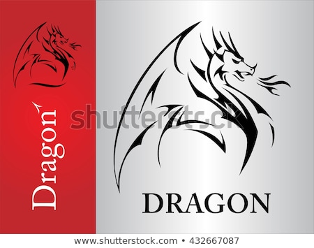 Dragon, Dragon sketch, spreading its wing.  Stock photo © HunterX