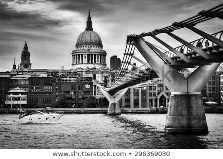katedrális · híd · panoráma · gyönyörű · panorámakép · modern - stock fotó © photocreo