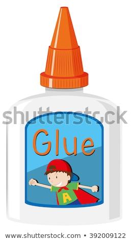Bottle of glue with orange cap Stock photo © bluering
