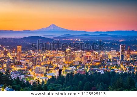 Oregon · skyline · schemering · gebouwen · brug · architectuur - stockfoto © Rigucci