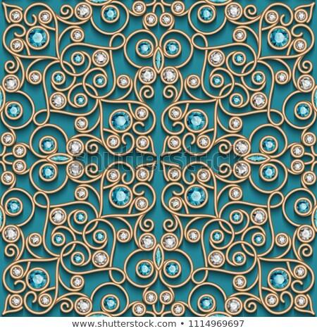 Diamonds are a seamless pattern. Precious stones vector backgrou Stock photo © MaryValery
