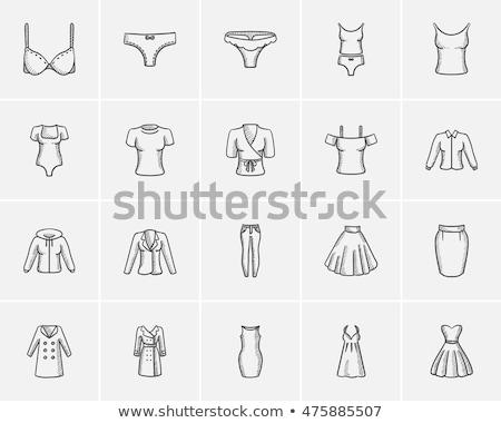 Melltartó rajz ikon vektor izolált kézzel rajzolt Stock fotó © RAStudio
