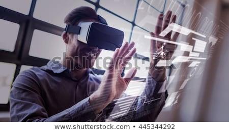 Casuale imprenditore virtuale realtà ufficio Foto d'archivio © wavebreak_media