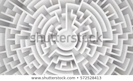 Exit of complicated maze. 3D Rendering Stock photo © alphaspirit