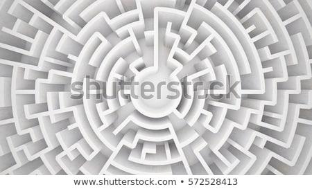3D · soluzione · labirinto · mano · rosso - foto d'archivio © alphaspirit