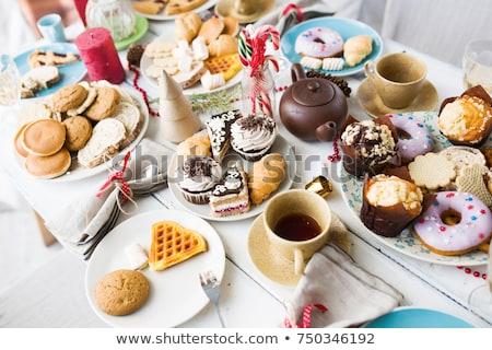 Aliments sucrés fond gâteau crème sweet sucre Photo stock © zurijeta