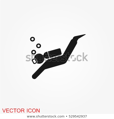 Diving icons, vector Stock photo © kup1984