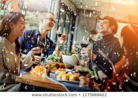 Party étel buli egészséges étel friss bogyók gyümölcs Stock fotó © lubavnel