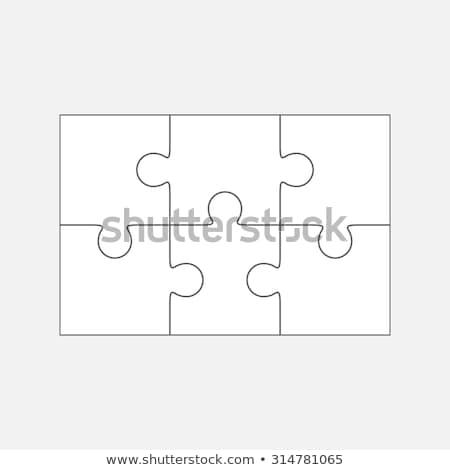 six puzzle icons stock photo © nickylarson974