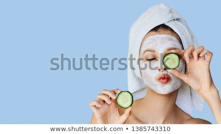Cucumber with a face Stock photo © bluering