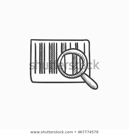 Barcode schets icon vector geïsoleerd Stockfoto © RAStudio