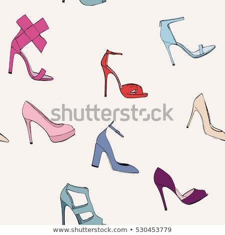 icon · verbod · schoenen · hielen · vrouwen · mode - stockfoto © rastudio