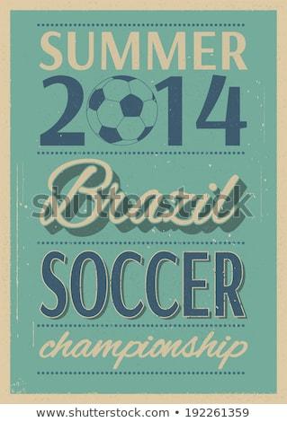 grunge soccer ball background eps 8 stock photo © beholdereye