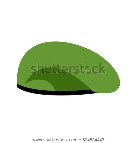 Béret militaire vert soldats cap armée Photo stock © popaukropa