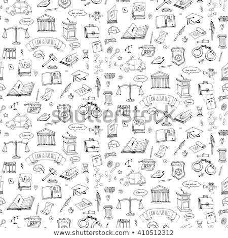 police sketch icon set stock photo © rastudio