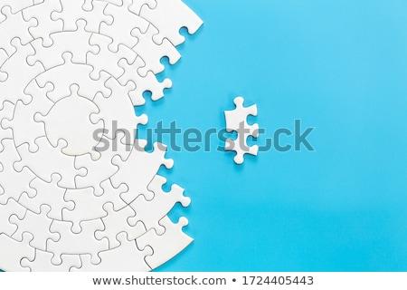 Fehér kirakós játék darabok copy space absztrakt minta Stock fotó © stevanovicigor