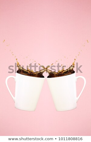 white cup on pink background solid Stock photo © 7Crafts