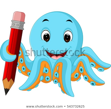 Octopus Holding Pencil Stock photo © derocz