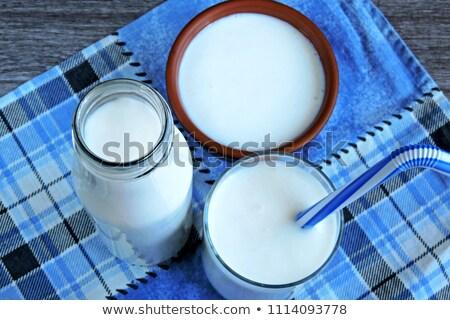 молоко стекла пить кремом Сток-фото © Digifoodstock