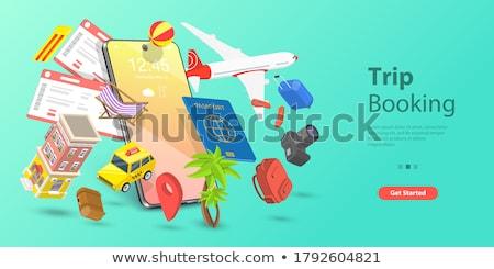 reis · internet · voorbehoud · ontwerp · koffer · 10 - stockfoto © sdCrea