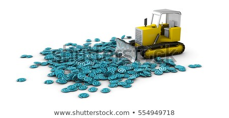 3d illustration of bulldozer in work creation process concept isolated white stock photo © tussik