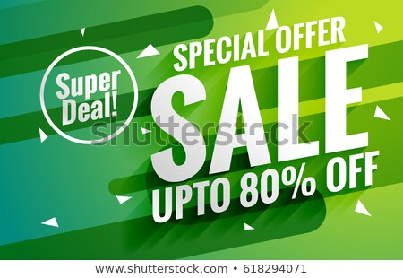 awesome green sale banner voucher for marketing design Stock photo © SArts