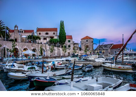city bol on island brac croatia stock photo © mmarcol