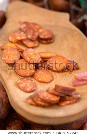 Hongaars worst gerookt varkensvlees voedsel Stockfoto © Digifoodstock