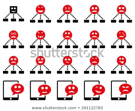 Emotion hierarchy and SMS icons Stock photo © ahasoft
