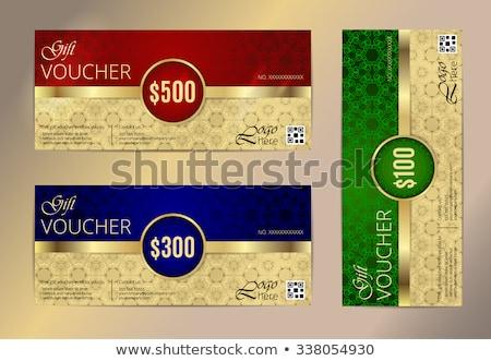 Foto stock: Gold Framed Colorful Labels - Vector Set