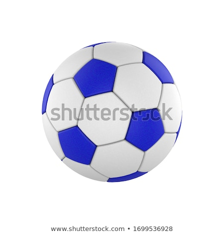 Blue Soccer Ball and Players stock photo © Frankljr