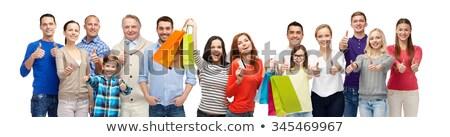 女性 ショッピングバッグ ジェスチャー デジタル複合 ストックフォト © wavebreak_media