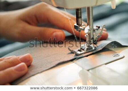 швейные машины зеленый ткань швейных Сток-фото © andreasberheide