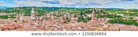 City of Verona aerial view from Lamberti tower Stock photo © xbrchx
