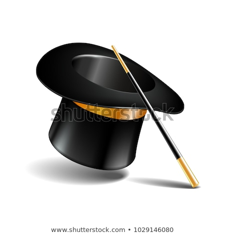 Vector magic hat isolated in white background Stock photo © ordogz