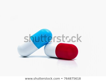 Cystitis. Medical Concept on Red Background. Stock photo © tashatuvango